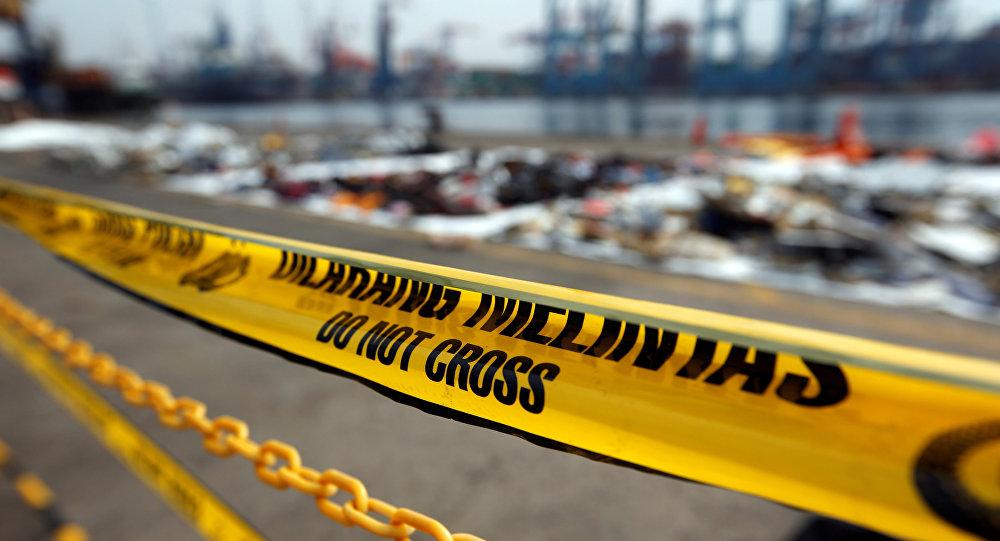 Fragmentos del avión de la compañía Lion Air siniestrado en Indonesia