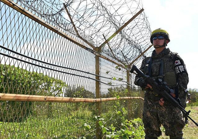 Un militar de Corea del Sur