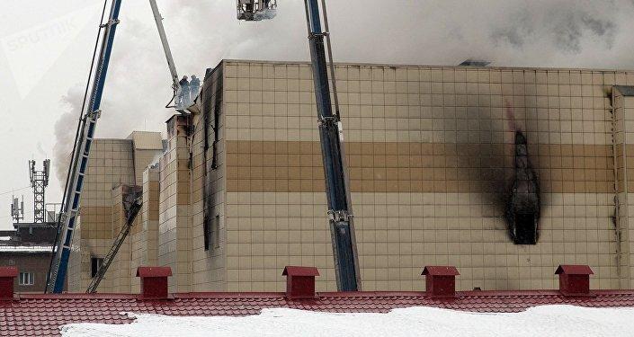Incendio en el centro comercial Zimniaya Vishnia (archivo)
