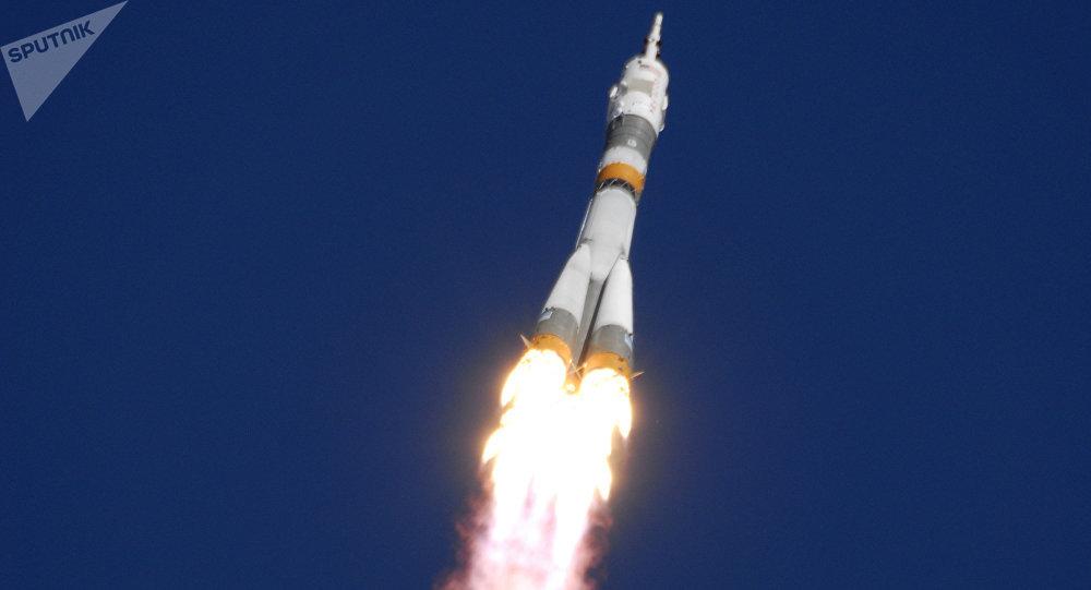 El lanzamiento del cohete Soyuz FG (archivo)