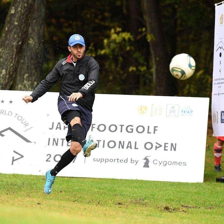 Nicolas García, número dos mundial de footgolf