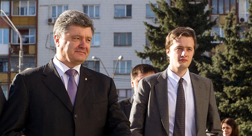 El presidente de Ucrania, Petró Poroshenko, y su hijo Olexi