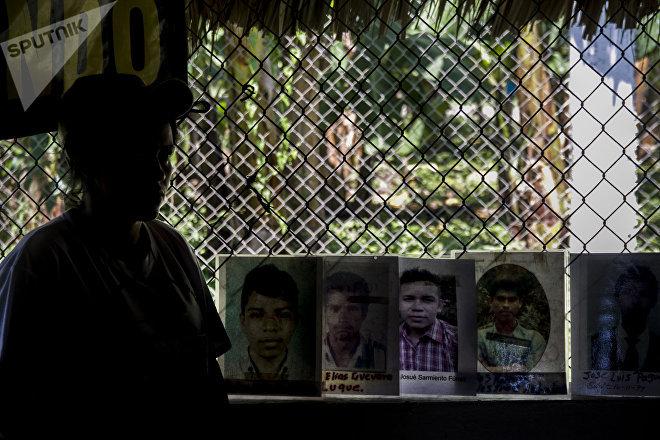 Integrante de la Caravana de Madres Centroamericanas