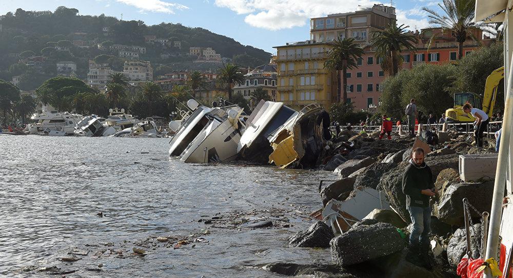 Las consecuencias de tempestad en Italia