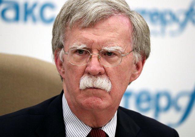 John Bolton, asesor de Seguridad Nacional de la Casa Blanca durante su visita a Rusia