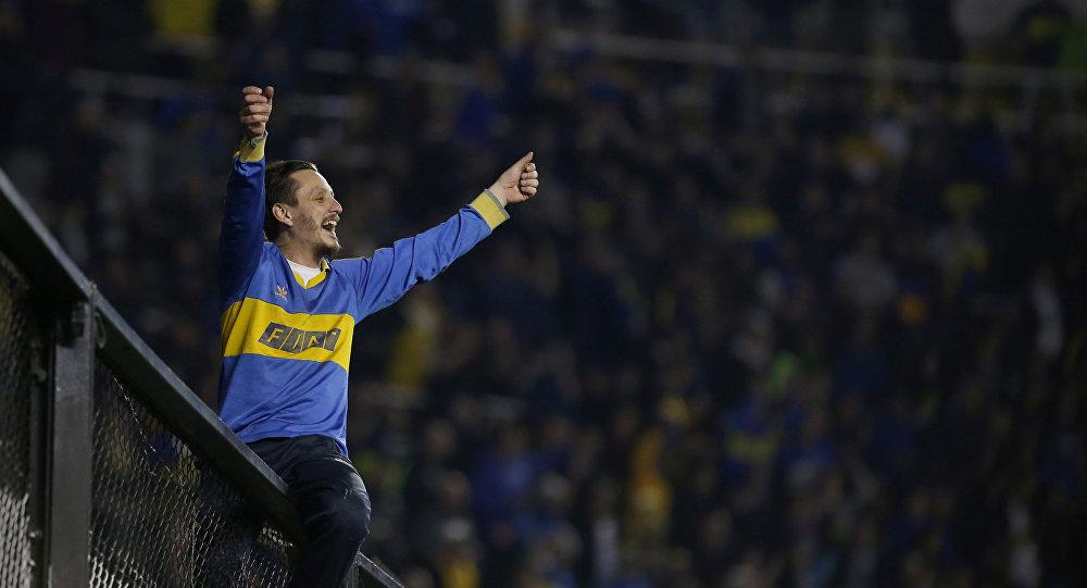 Un hincha de Boca Juniors
