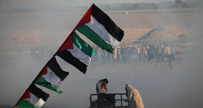 Las protestas de palestinos entre Gaza e Israel