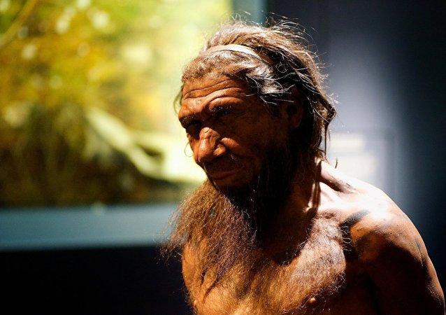 Un neandertal (imagen referencial)