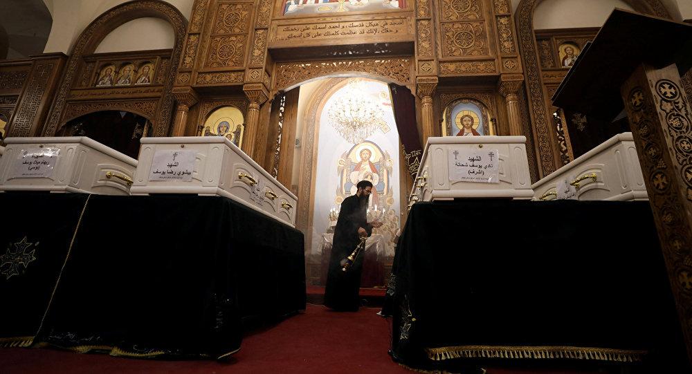 Despedida de las víctimas del ataque terrorista contra cristianos coptos en Egipto