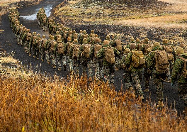 Cuerpo de marines de EEUU durante unas maniobras de la OTAN