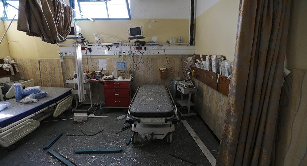 Un hospital destruído en la Franja de Gaza (archivo)