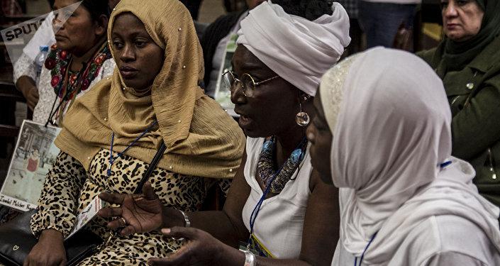 Delegación de Senegal en la cumbre mundial de madres de desaparecidos