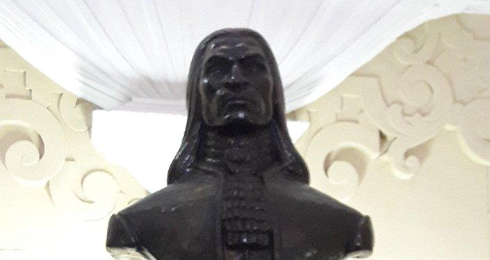 Efigie de Túpac Amaru II en el Panteón de los Próceres en Lima