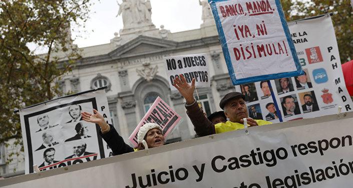 Protestas en España por la sentencia sobre impuestos hipotecrios
