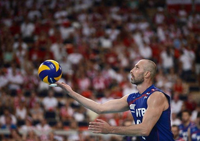 El campeón olímpico y bicampeón mundial de voleibol, Serguéi Tetiujin