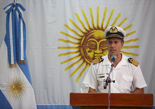Enrique Balbi, portavoz de la Armada argentina y principal interlocutor de la fuerza a raíz de la desaparición del submarino San Juan
