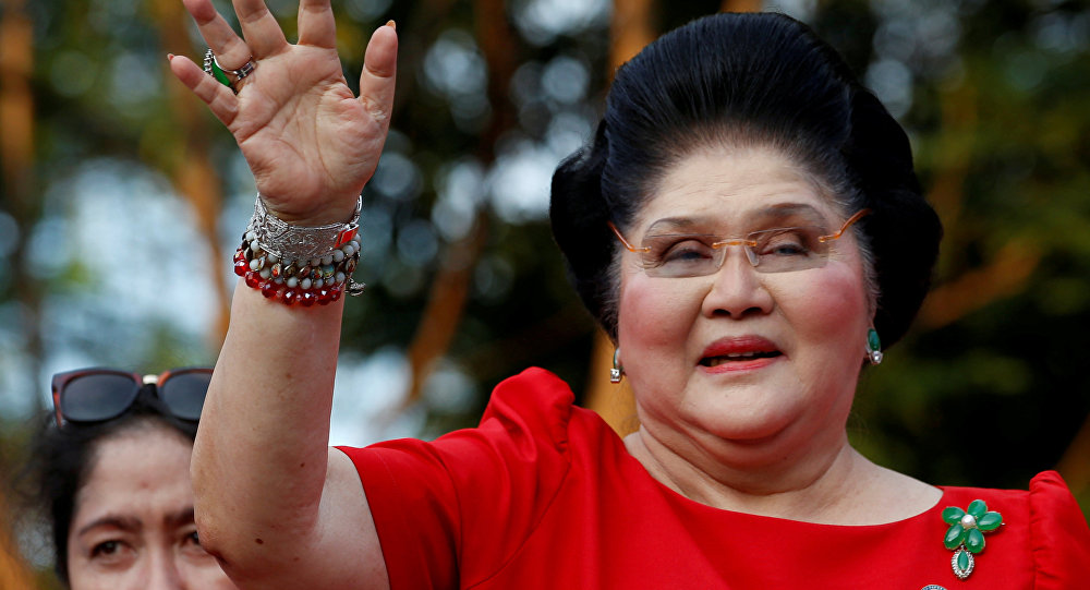 Imelda Marcos, ex primera dama y miembro de la Cámara de Representantes por la provincia de Ilocos Norte, Filipinas