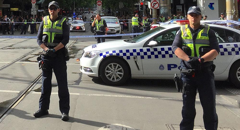 La policía australiana en Melbourne