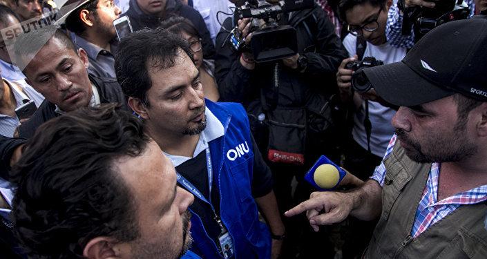 Jorge Nava y Milton Benítez discuten el pedido reunión con representantes de la ONU