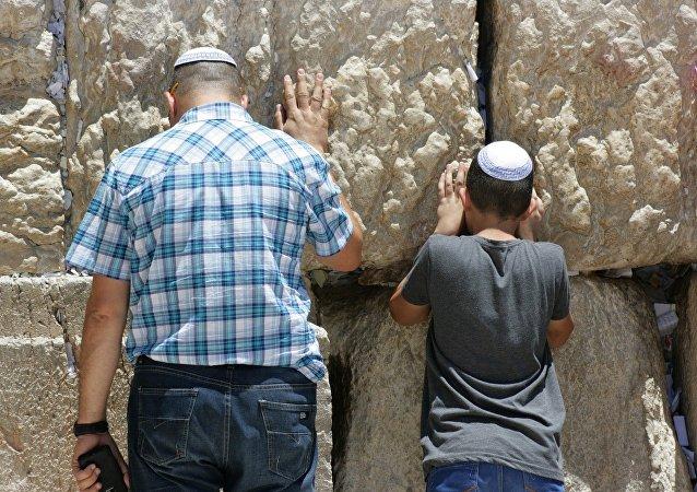 Judíos rezan en el Muro de las Lamentaciones, en Jerusalén