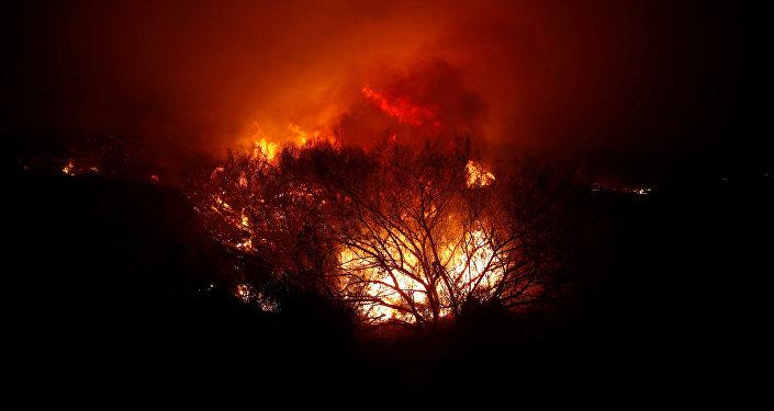 Un incendio forestal en Malibú
