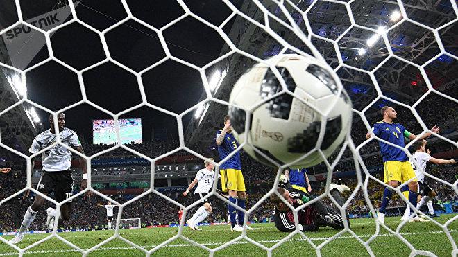 Gol de Toni Kross en el partido de Alemania vs Suecia durante el Mundial de Rusia 2018 (haz clic para ver)