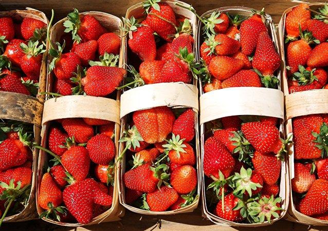 Canastillas de fresas
