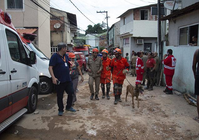 Deslizamiento de tierra en Río de Janeiro