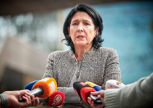 Salomé Zurabishvili, la presidenta de Georgia