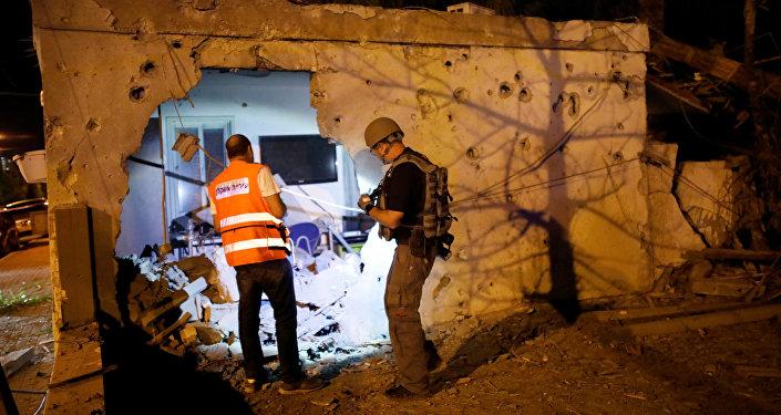 Destrucciones en la ciudad israelí de Ascalón tras el ataque del 12 de noviembre