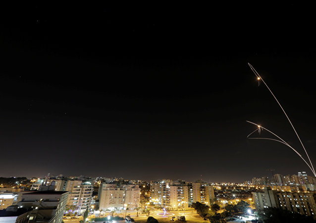 Ciudad israelí de Ashkelon durante un ataque