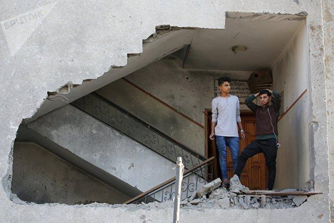 Un edificio destruido en Gaza tras la escalada de violencia de noviembre de 2018