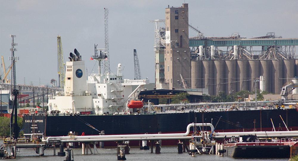 Un buque petrolero Aframax