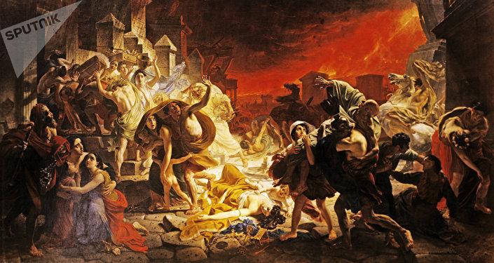 El último día de Pompeya, pintura de Karl Brulov
