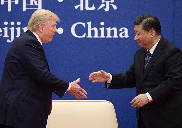 Presidente de EEUU, Donald Trump, y su homólogo chino, Xi Jinping (archivo)