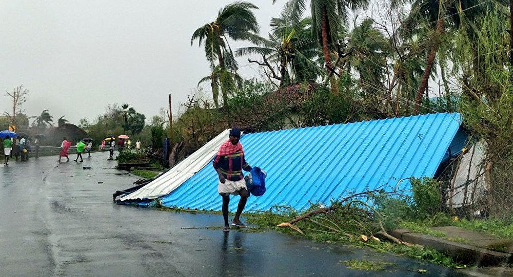 Los daños por el ciclón Gaja en la India