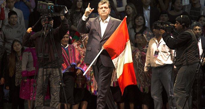 Alan García, antiguo presidente de Perú