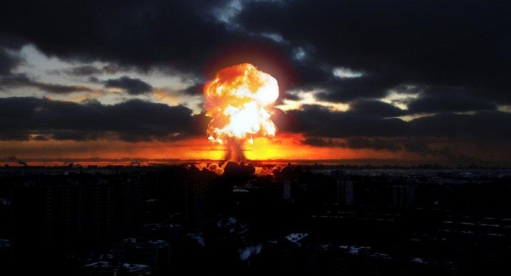 Una explosión en una ciudad, imagen referencial