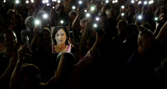 Protestas contra el asesinato de la periodista Daphne Caruana Galizia