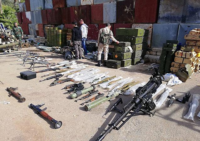 Descubren un almacén de terroristas en Siria