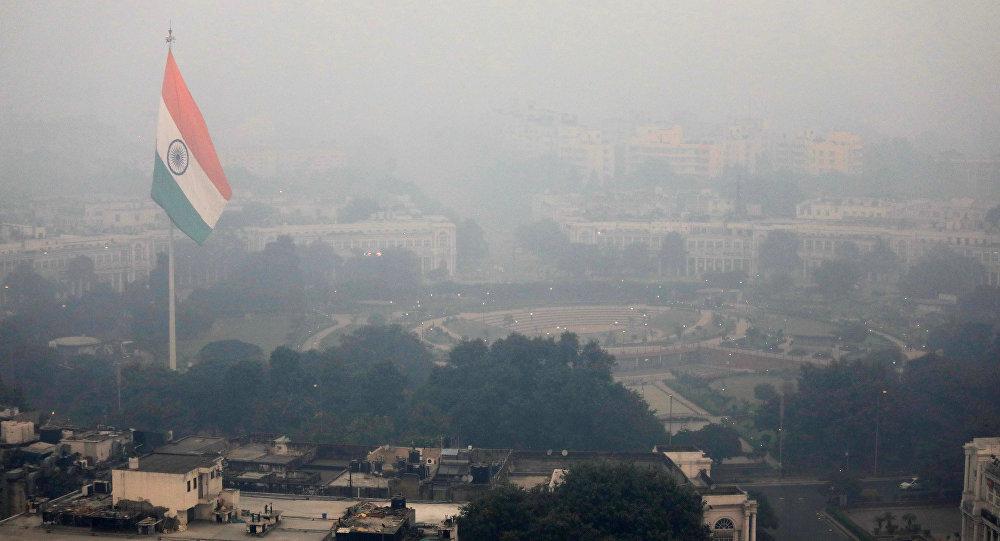 Contaminación en Nyeva Delhi, la India