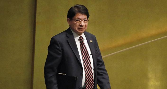 Denis Moncada, canciller de Nicaragua