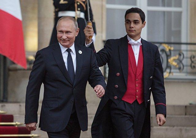 Vladímir Putin, presidente de Rusia, visita París en conmemoración del centenario del fin de la primera Guerra Mundial, 11 de noviembre de 2018