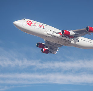 Un Boeing 747 de Virgin Orbit, foto archivo