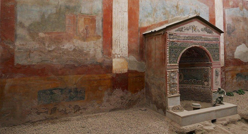Las ruinas de la ciudad de Pompeya, Italia