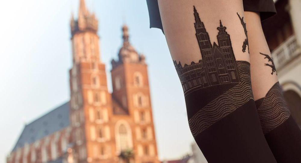 Unas medias con la imagen de la Basílica de Santa María