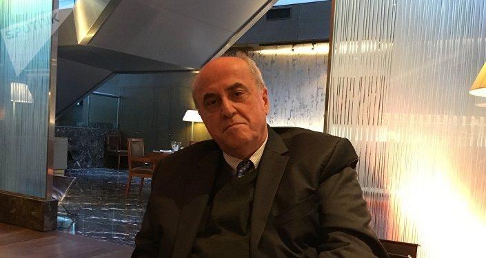 Elías Sanbar, embajador de Palestina ante la Unesco