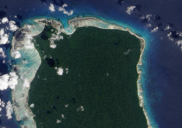 Isla Sentinel del Norte, en el océano Índico, donde murió un misionero estadounidense en manos de una tribu aislada