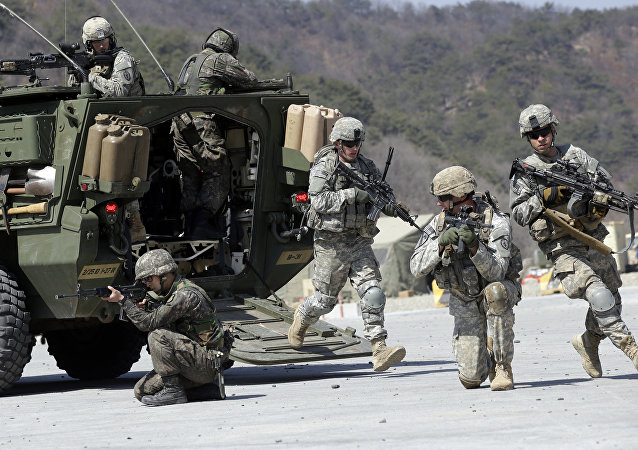 Ejercicios militares conjuntos de EEUU y Corea del Sur Foal Eagle (Archivo)