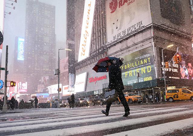 El frío en Nueva York, EEUU